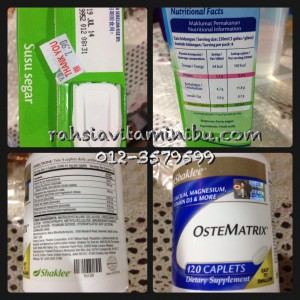harga kalsium ostematrix vs harga kalsium susu