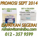 Promosi september 2014, promosi collagen, promosi mealshakes