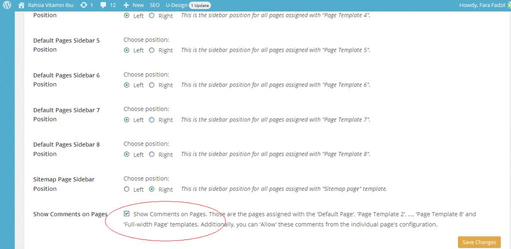 kotak komen wordpress hilang