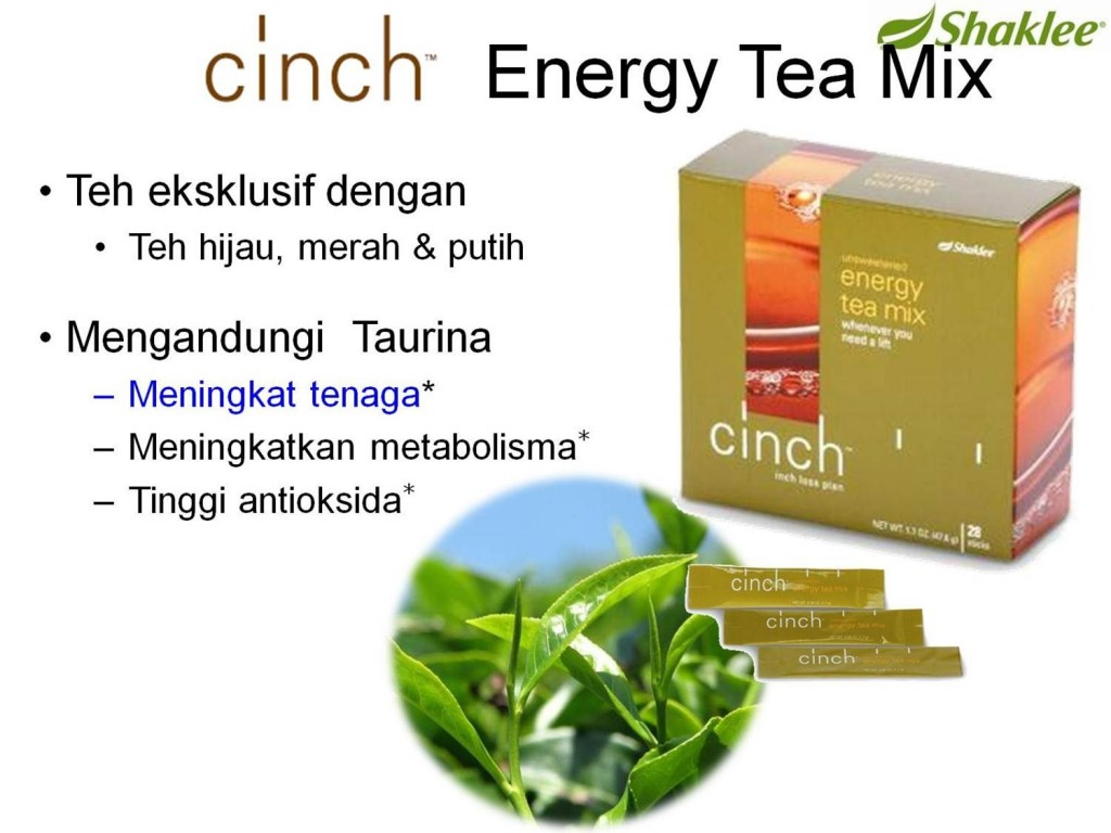 Tambah Tenaga Dengan Cinch Energy Tea Mix