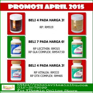 PROMOSI SHAKLEE APRIL 2015