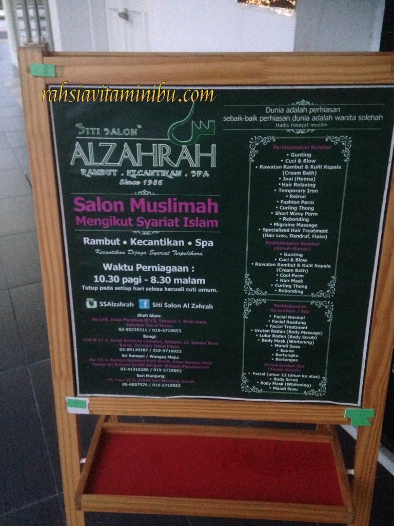 Lokasi dan Perkhidmatan di Siti Salon Alzahrah