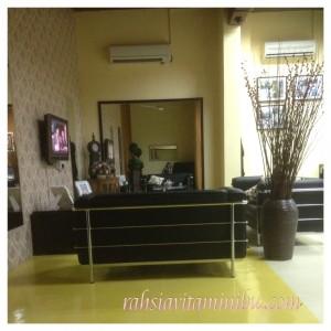 Ruang menunggu Siti Salon AlZahrah Sri Rampai