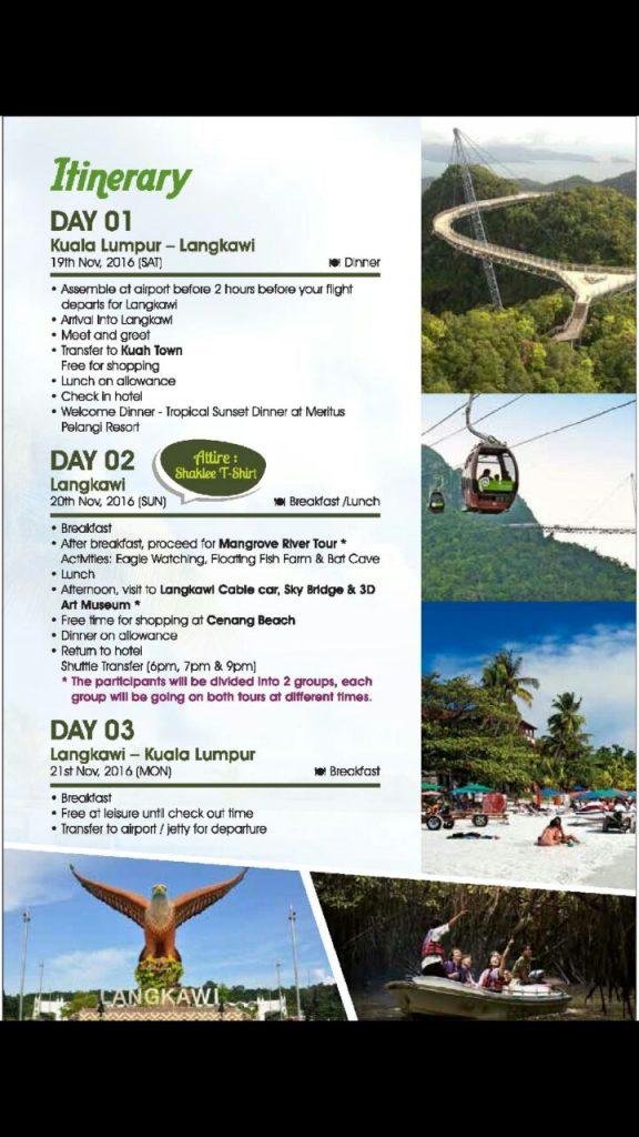 Program percutian ke Langkawi tajaan Shaklee