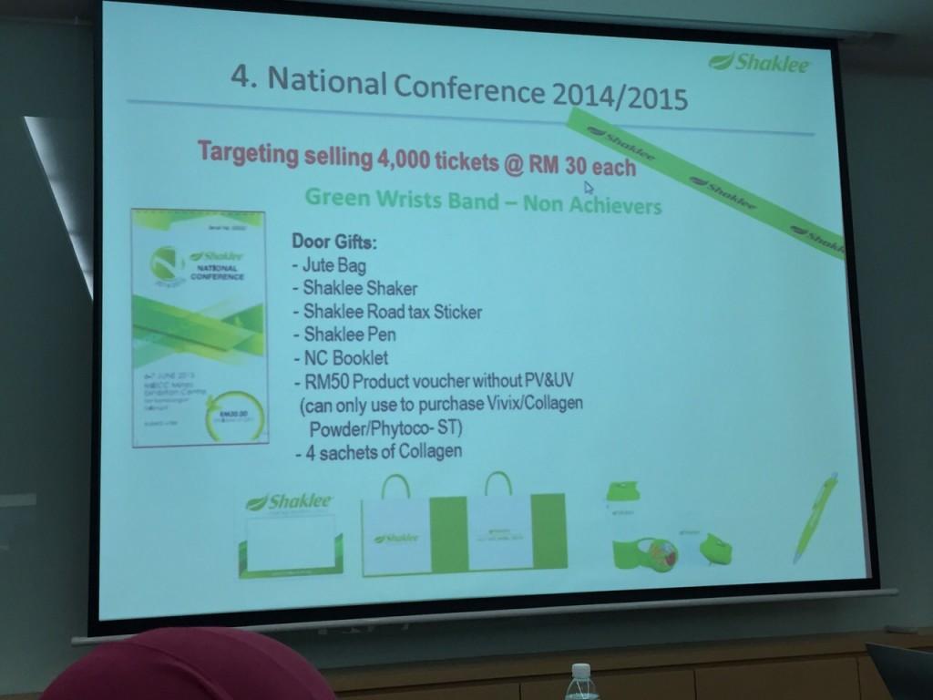 Goodie Bag Semasa Shaklee National Conference