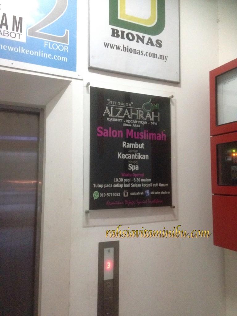 Lif ke Siti Salon AlZahrah Sri Rampai